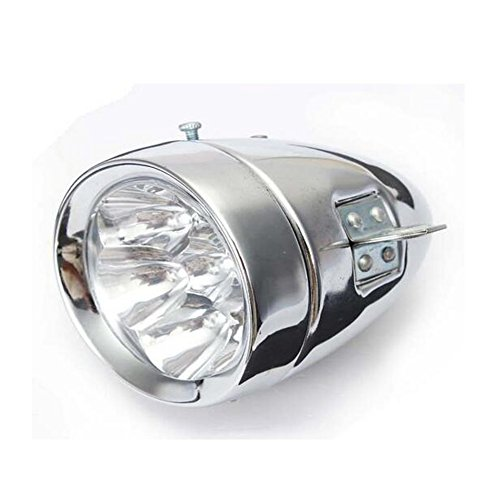 Zimo®Vintage Retro Bicycle Bike Front Light Lamp 7 LED Fixie Headlight with Bracket 2