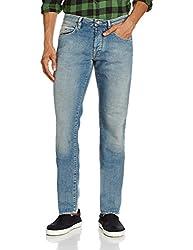 Gas Men's Mitch Straight Fit Jeans (8056775104858_80762WN61_36W x 34L_Blue)