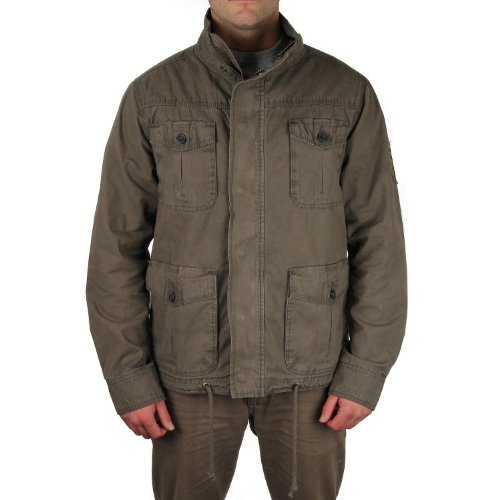 SALTROCK MEN'S 'OUTBACK' CANVAS JACKET - BROWN SIZE S