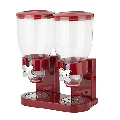 zevro-doppio-dispenser-da-cucina-per-cereali-cibi-secchi-colore-rosso