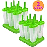 Tovolo Groovy Ice Pop Molds, Green - 2 Set of 6