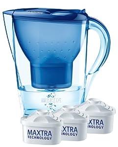 Brita Wasserfilter Marella Cool, blau, Starterpaket inklusive 3 Kartuschen