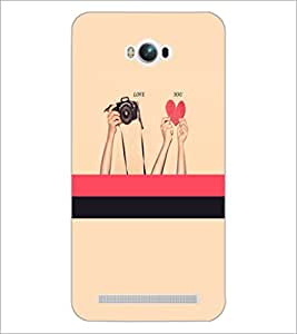 PrintDhaba Love D-3497 Back Case Cover for ASUS ZENFONE MAX ZC550KL (Multi-Coloured)