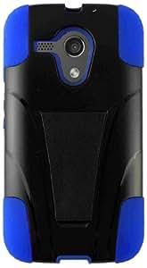 HR Wireless Motorola Moto G T-Stand Cover - Retail Packaging - Black/Dark Blue