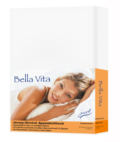 Bella Vita Spannbettlaken Baumwolle schnee weiß, 180x200 - 200x220
