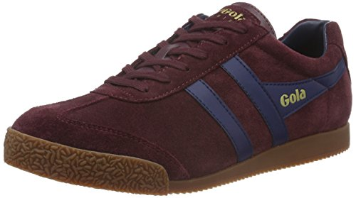Gola Mens Harrier Suede Trainers Red Size 42
