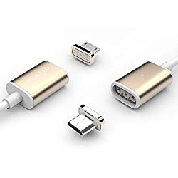 USAMS Magnetic Lightning 2.4A Reversible Charging Cable iPhone 6 6S 5S iPad Air-Gold