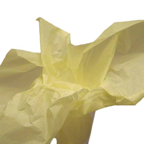 Dress My Cupcake DMC79494 100-Piece Tissue Paper, 20 by 14-Inch, Light Yellow