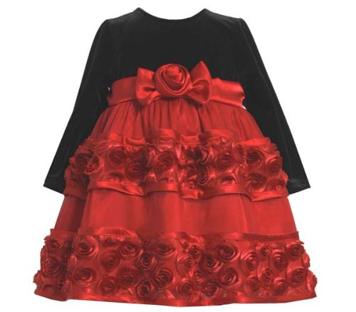 Bonnie Baby Baby-Girls Infant Black Stretch To Bonaz Skirt, Red, 18 Months front-946824