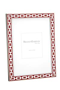 Reed & Barton Silver Link 4 by 6-Inch Frame, Poppy