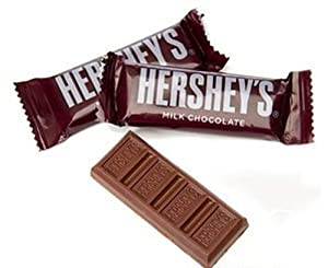 Hershey's Milk Chocolate Snack Size Bars, 27.0 Pound
