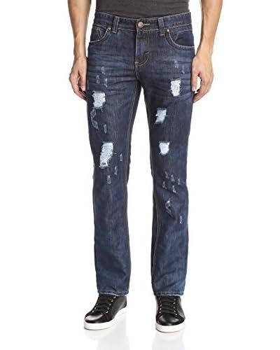 TR Premium Men's Slim Straight Leg Washed Jean