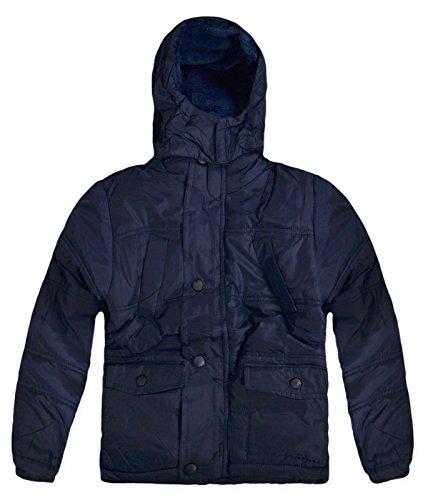 Generic Boys invernale con cappuccio pelliccia Puffa Cappotto Navy 12 anni