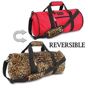 JanSport Inner Beast Reisetasche - Rot Spot/Leopard