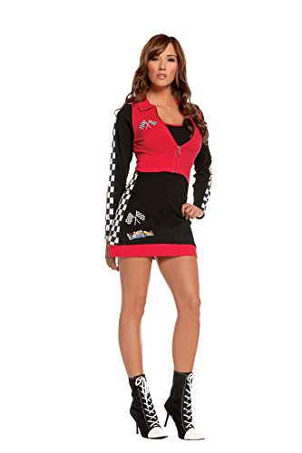 Sexy Women's High Speed Hottie Race Car Driver Roleplay Costume