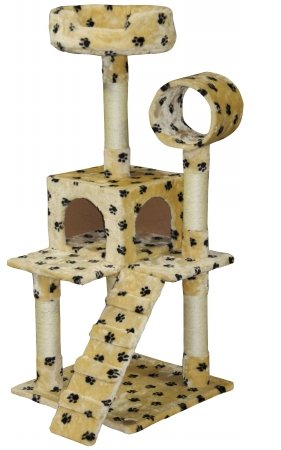 Go Pet Club Cat Tree Condo House Furniture, 50-Inch, Paw Print