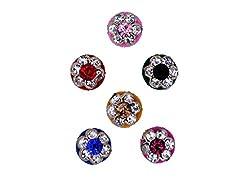Sunaina Premium Collection Multicolor Medium Size Round Bindis for Women [SPC554]
