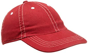 City Threads Big Boys' Solid Baseball Hat, Red, XX-Large