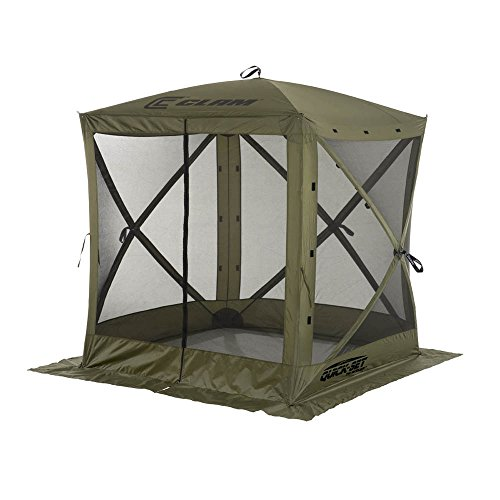 Clam Corporation 9870 Quick-Set Traveler Shelter, 72 x 72-Inch, Forest Green