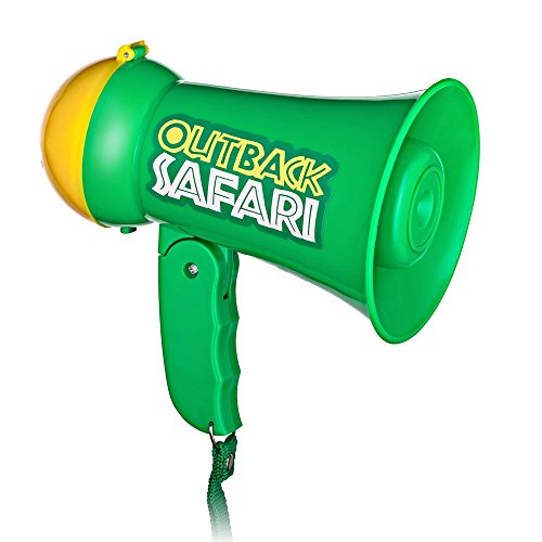 Pretend Play Kids Safari Outback Megaphone with Siren Sound - Handheld Mic Toy (Megaphone Kids compare prices)