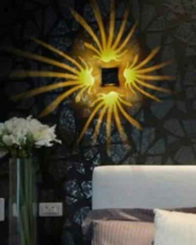 Modern LED Aluminum Subset Pattern 3 Watt Club Light (Yellow) image