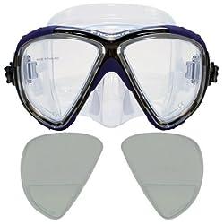 RX Scuba Dive Snorkeling Mask Prescription Lenses, Blue