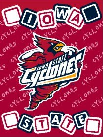 "Iowa State Cyclones ISU NCAA 36"" X 48"" Woven Baby Throw Blanket"