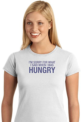 im-sorry-for-what-i-said-when-i-was-hungry-funny-food-exclusive-quality-t-shirt-for-damen-xs-shirt