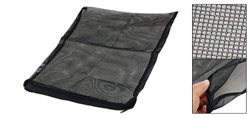 zipper-closure-aquarium-fish-fry-breeder-net-bag-black