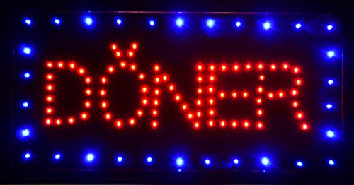 New Led Illuminated Advertising Signs Xxl Display Signs// Doner Kebab