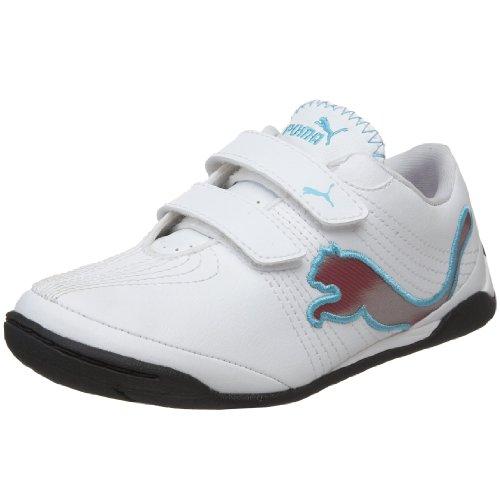 PUMA Little Kid/Big Kid Etoile Cat Sneaker,Puma White/Hyacinth Violet/Blue Mist,4 M US Toddler