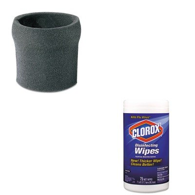 Kitcox01761Easho9052600 - Value Kit - Shopvac Hang-Up Foam Sleeve (Sho9052600) And Clorox Disinfecting Wipes (Cox01761Ea) front-467449