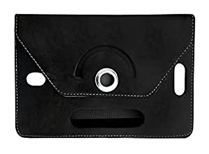 Fastway Rotating 360° Leather Flip Case For Iball Slide Snap 4G2 (Black)