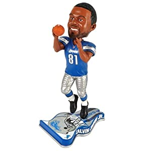 Detroit Lions Calvin Johnson 2013 Pennant Base Bobblehead Figurine