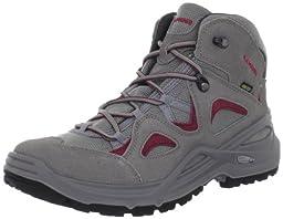 Lowa Women\'s Bora GTX Qc WS Hiking Boot,Grey/Magenta,10 M US