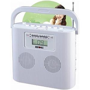 duronic rcd025w lecteur cd portable avec radio am fm. Black Bedroom Furniture Sets. Home Design Ideas
