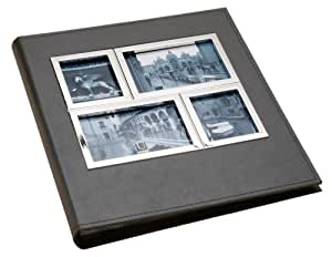 Umbra Horizon 4-Inch-by-6-Inch 5-Opening Photo Album, Black & Chrome