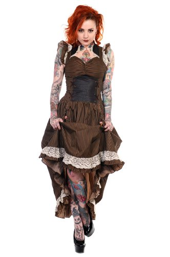 Banned Victorian Steampunk Dress S - UK 10 / EU 38