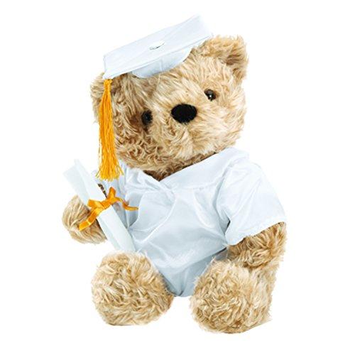 Huggable Grad Bear White - 1