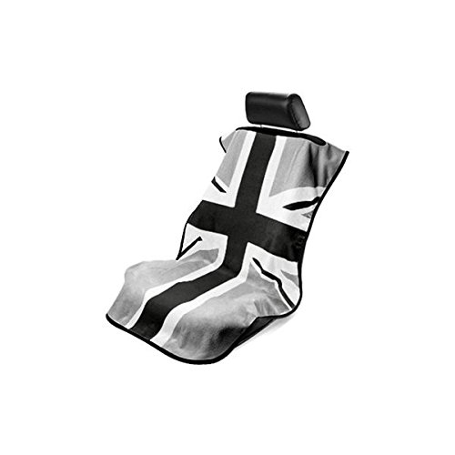 Seat Armour (SA100MINIBG) Black/Gray 'British Flag' Seat Protector Towel (British Flag Car Seat Covers compare prices)