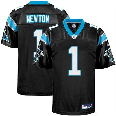 half off 70e6e f222f Reebok Cam Newton Carolina Panthers Black Authentic Jersey ...