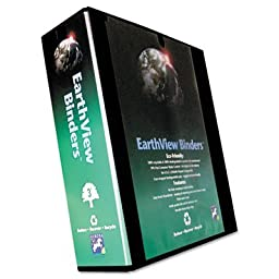 Aurora Products Earth View Round Ring Presentation Binder, 3-Inch Capacity, Black (20389)