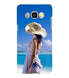 Printvisa Girl On A Beach Back Case Cover for Samsung Galaxy J5 (2016)::Samsung J510F