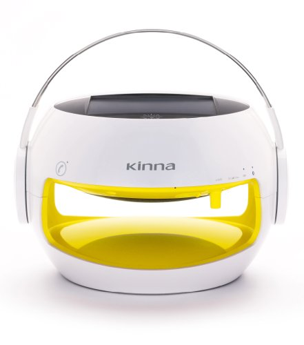 Kinna Portable Bluetooth Speaker,Cute,Solar Powered,Water Proof,10Hours Battery(Yellow).By Gemini Doctor