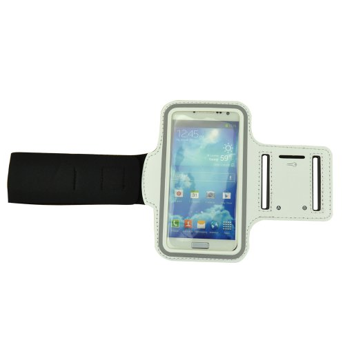 New White Protective Jogging Running Sports Gym Armband Case Cover For Samsung Galaxy S4 Siv I9500,Galaxy Note Ii N7100,Galaxy S2 S3 I9300 / Htc One (M7) / Nokia Lumia / Sony Xperia