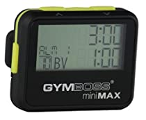 Gymboss miniMAX Interval Timer and Stopwatch - BLACK / YELLOW SOFTCOAT