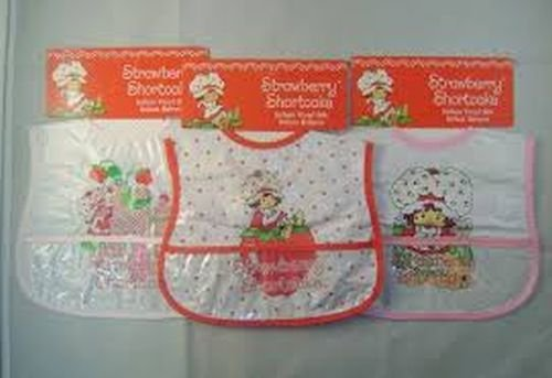 Set of 3 Strawberry Shortcake Infant Vinyl Bibs - 1