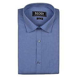 NEXQ Make Men's Formal Cotton Solid Shirt