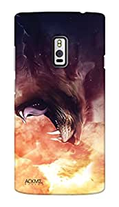 ACKME DESIGN Wild lion design One plus 2 Designer back cover cases AAZONEP2F004