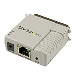 StarTech.com 1 Port 10/100 Mbps Ethernet Parallel Network Print Server - Print server - parallel